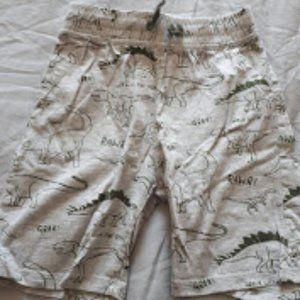 H&M Jersey Cotton Shorts Grey Dinosoars Size 6-7